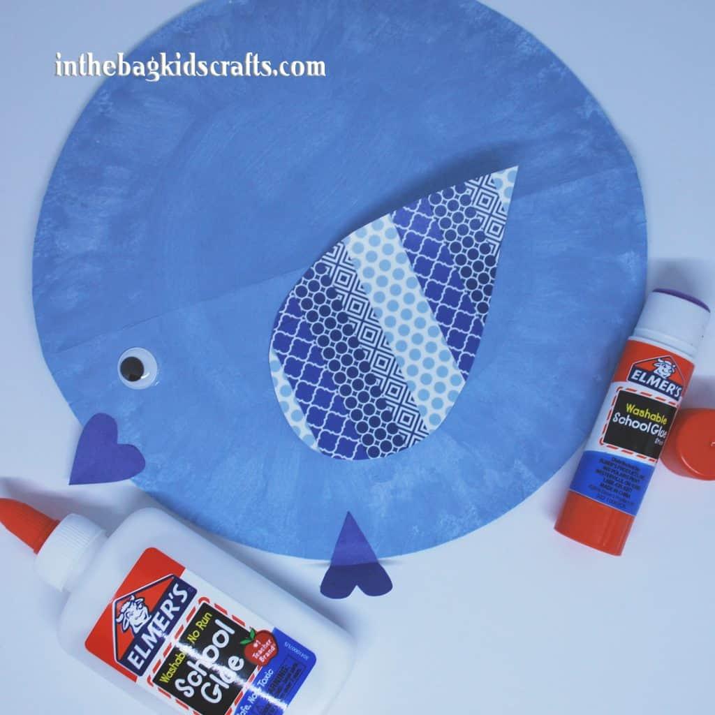 Easy Kids' Craft Rocking Blue Bird Step 5