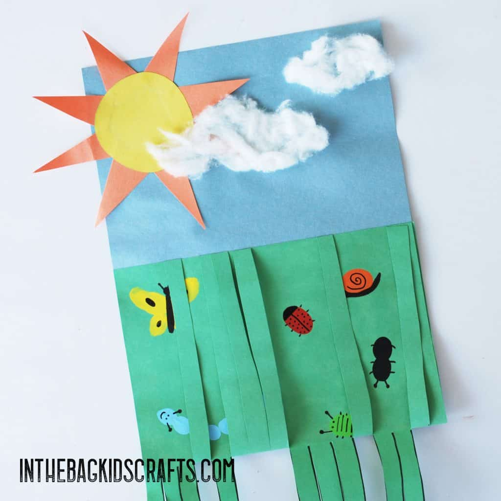 EASY SUMMER KIDS CRAFTS BUGS IN THE GRASS CRAFTS FOR KIDS