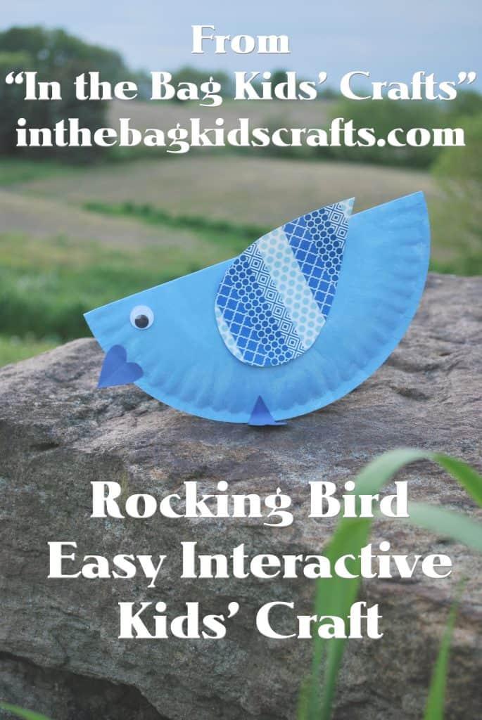 Easy Kids' Craft Rocking Blue Bird