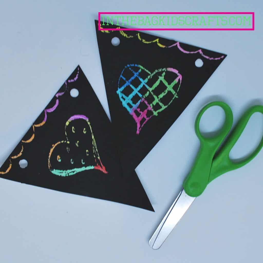 Easy Kids' Craft Scratch Art Banner Step 5