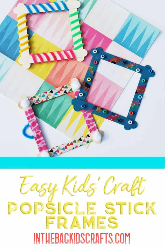 Popsicle Stick Picture Frames