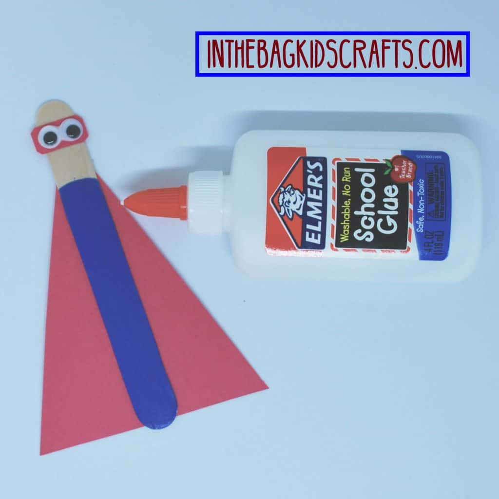 father's day easy kids' craft: super hero card step 3