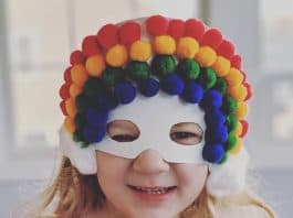 rainbow mask kids' craft
