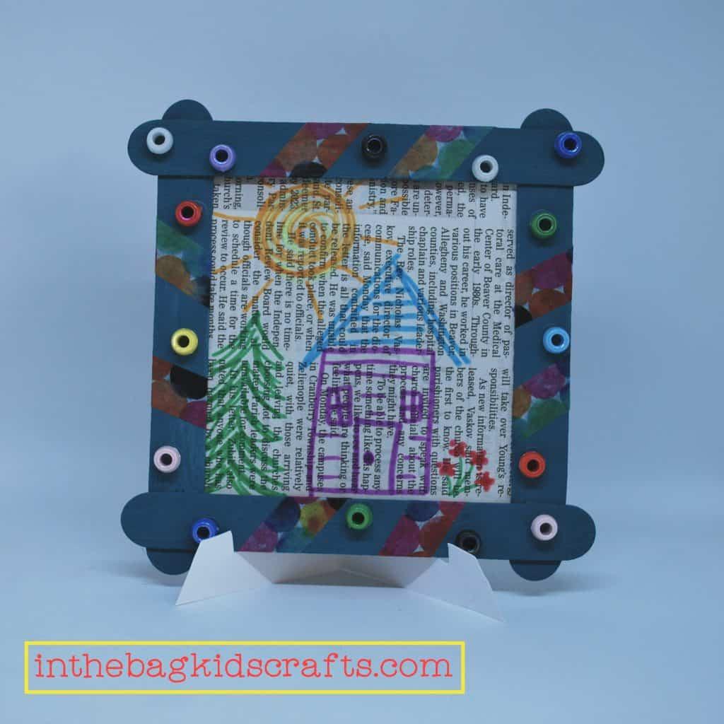 Easy DIY Kids' Craft Picture Frame