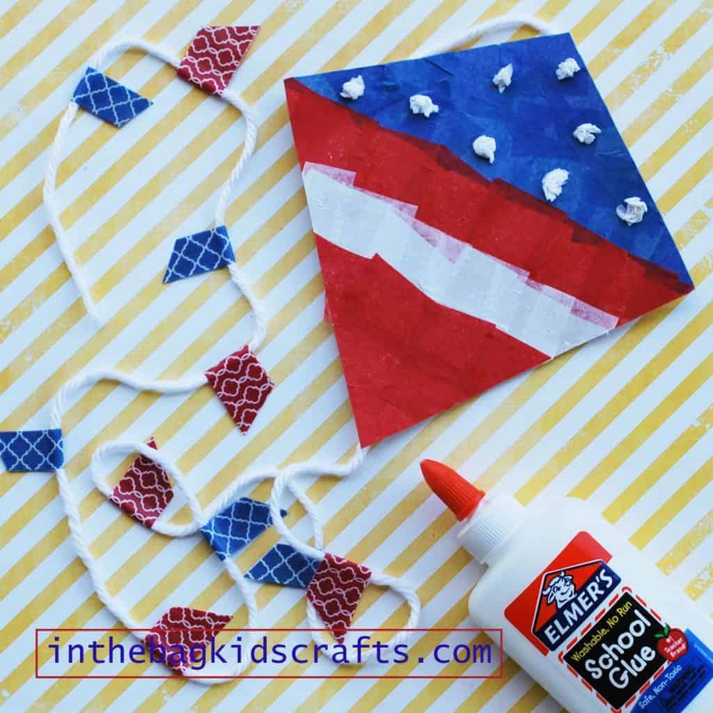 Patriotic Kite Easy Kids' Craft step 8
