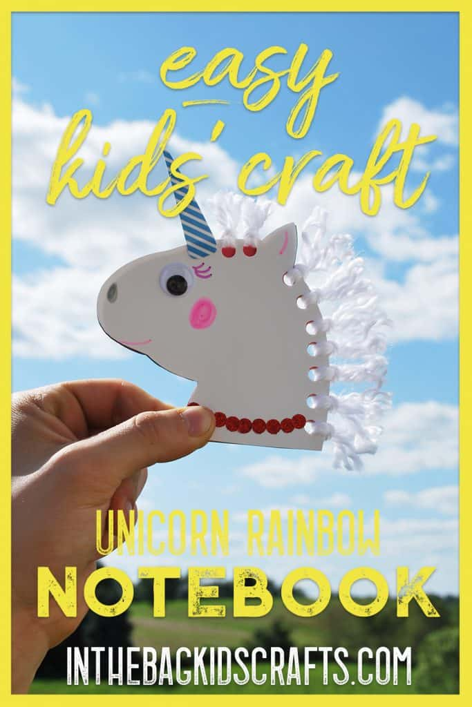 unicorn kids craft notebook