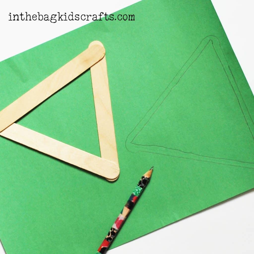 Popsicle stick craft step 2