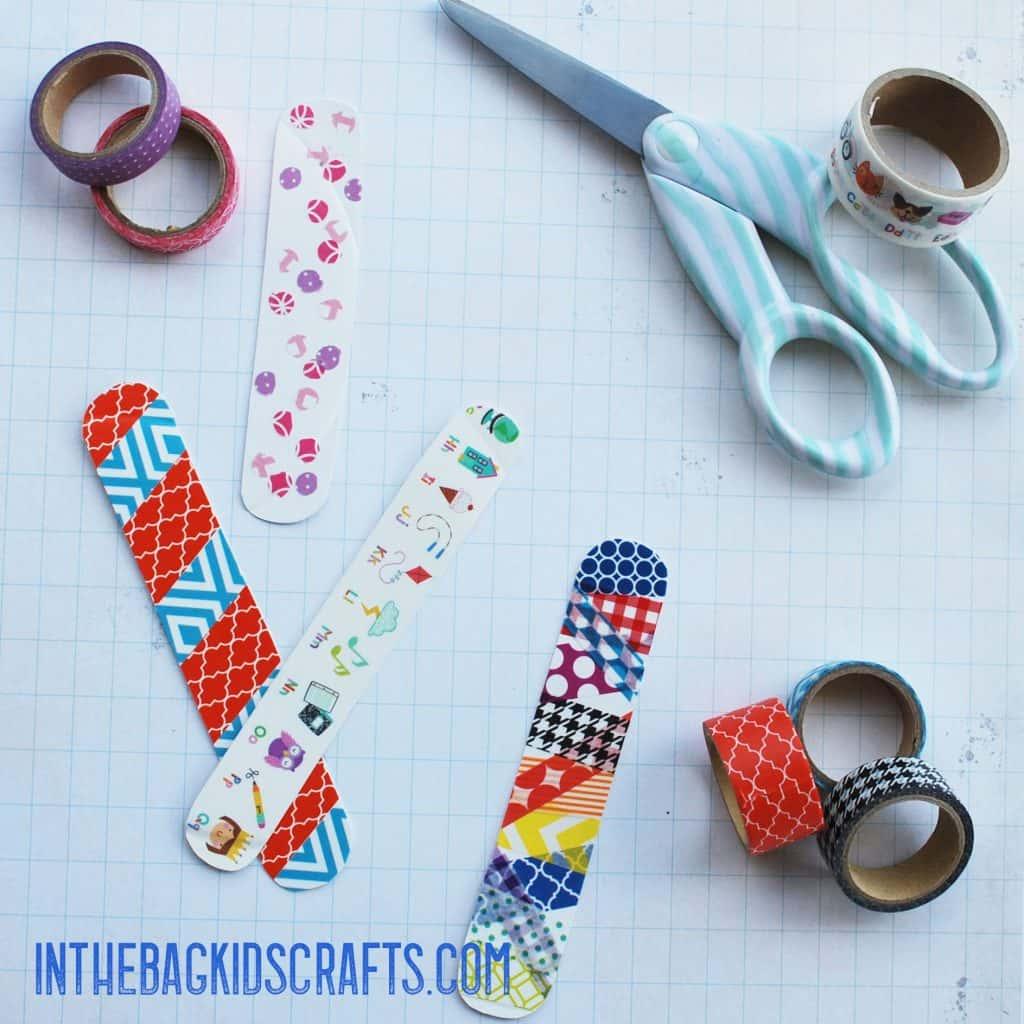 washi tape bracelets step 2