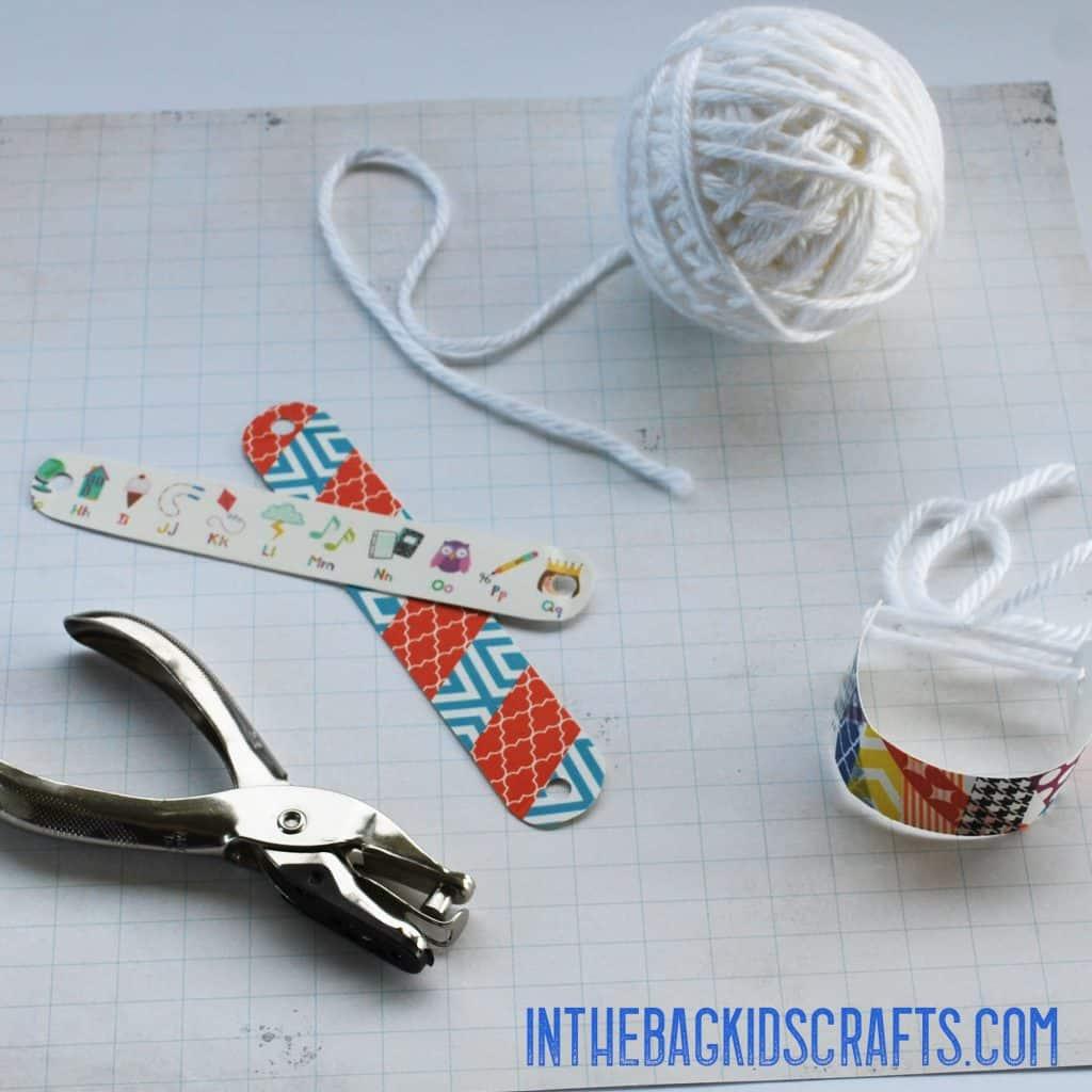 washi tape bracelets step 3