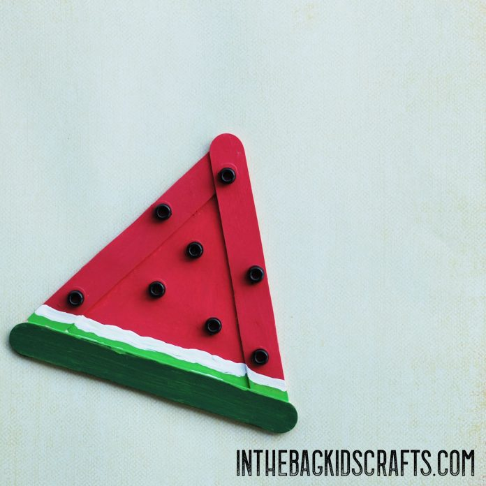 Watermelon slice Easy Summertime kids craft