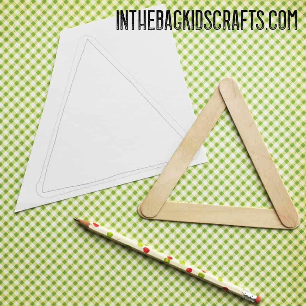Popsicle Stick Cow Kids Craft Step 2