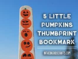 5 little pumpkins craft fingerprint bookmark