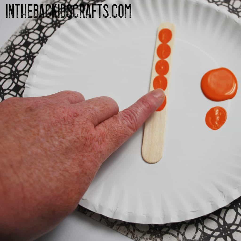 Pumpkins Bookmark step 1
