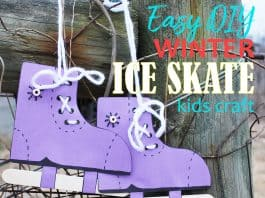 Ice Skate Craft for Kids