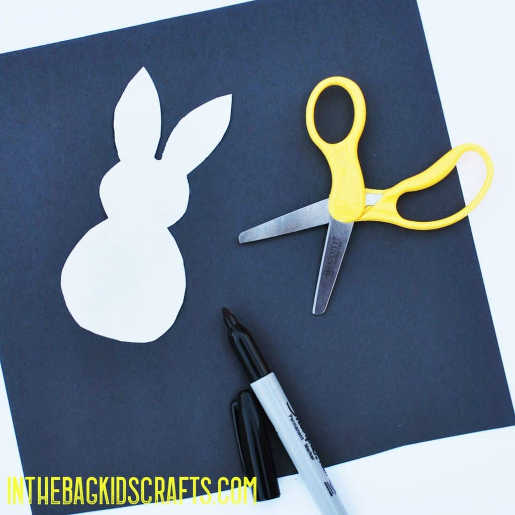 EASTER BUNNY CRAFT STEP 2