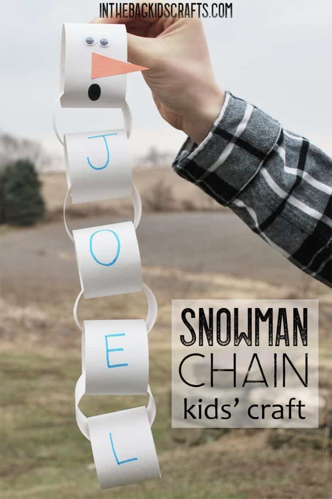 Snowman Chain Craft