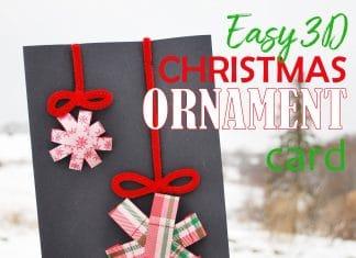 3D Christmas Ornament Card