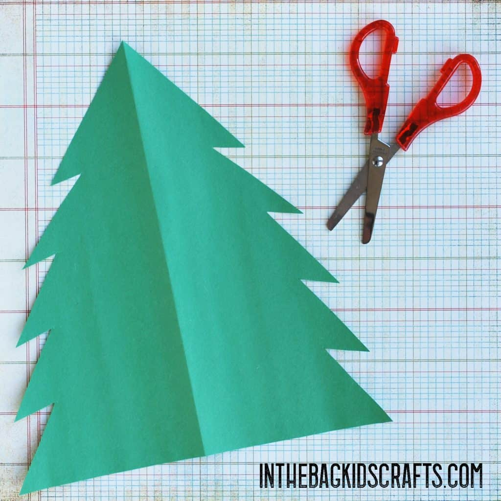Cut out the Christmas tree