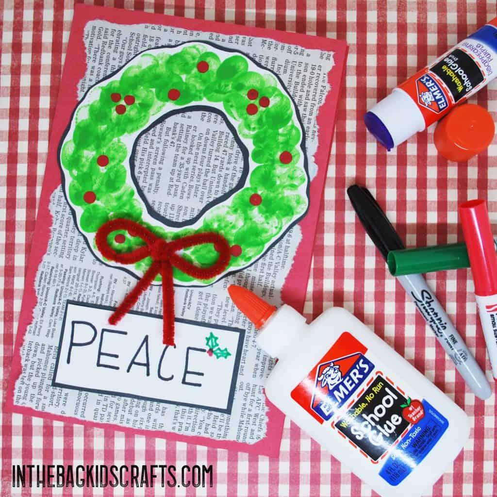 Wreath Card step 4