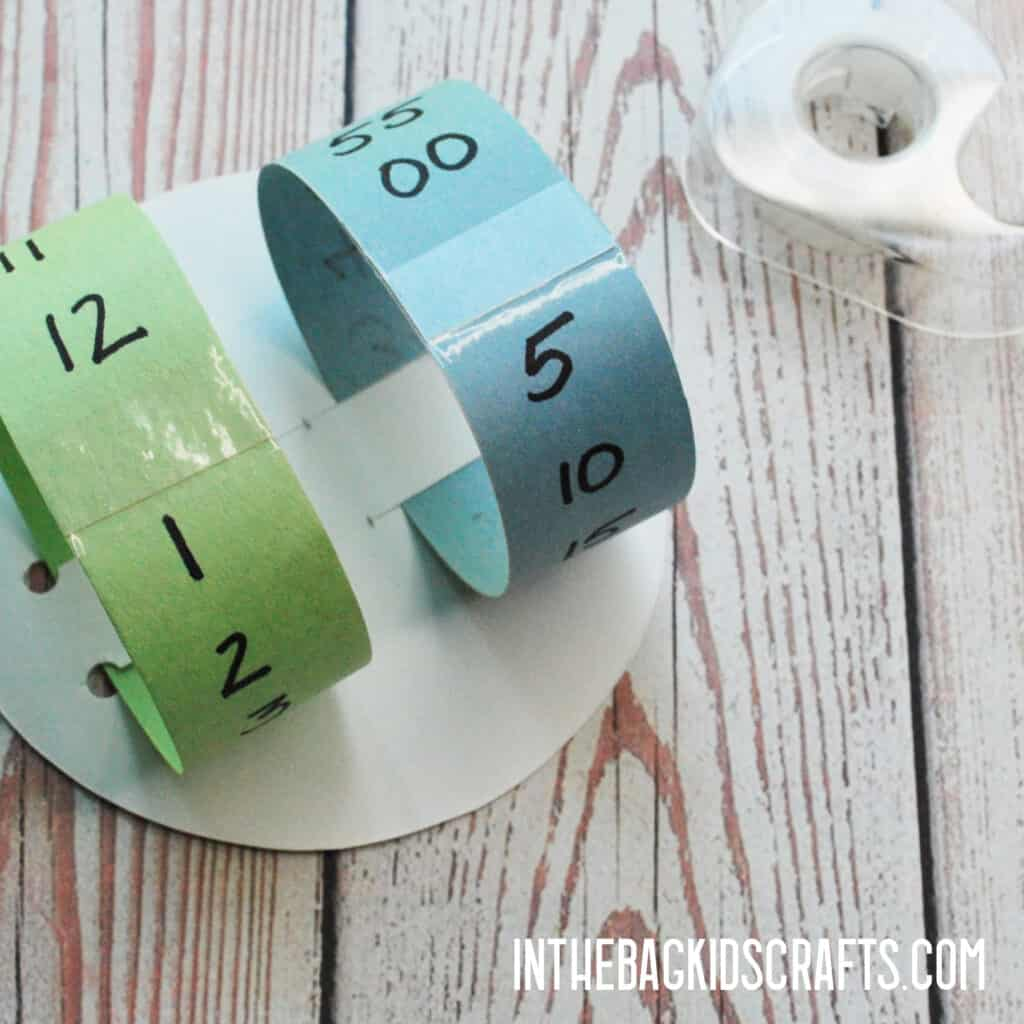 EASY TELLING TIME CRAFT STEP 2
