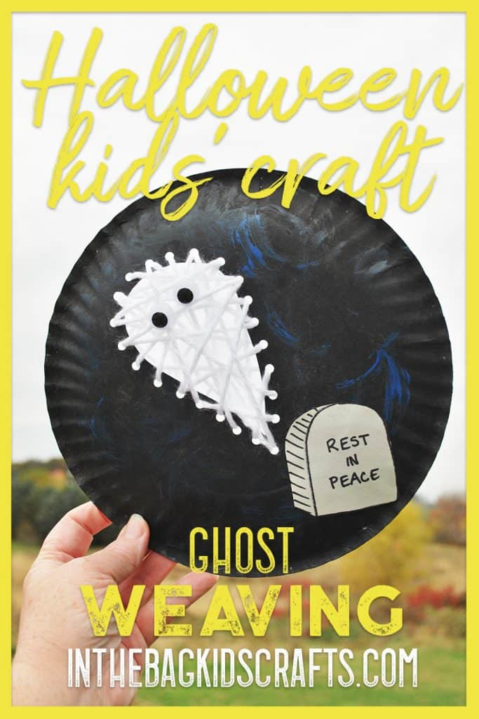 halloween ghost kids' craft
