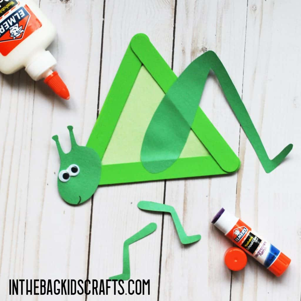 INSECT CRAFTS FOR KIDS GRASSHOPPER