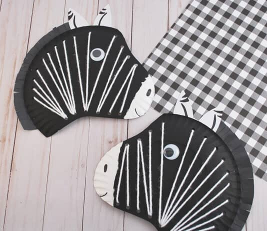 EASY ZEBRA CRAFT FOR KIDS