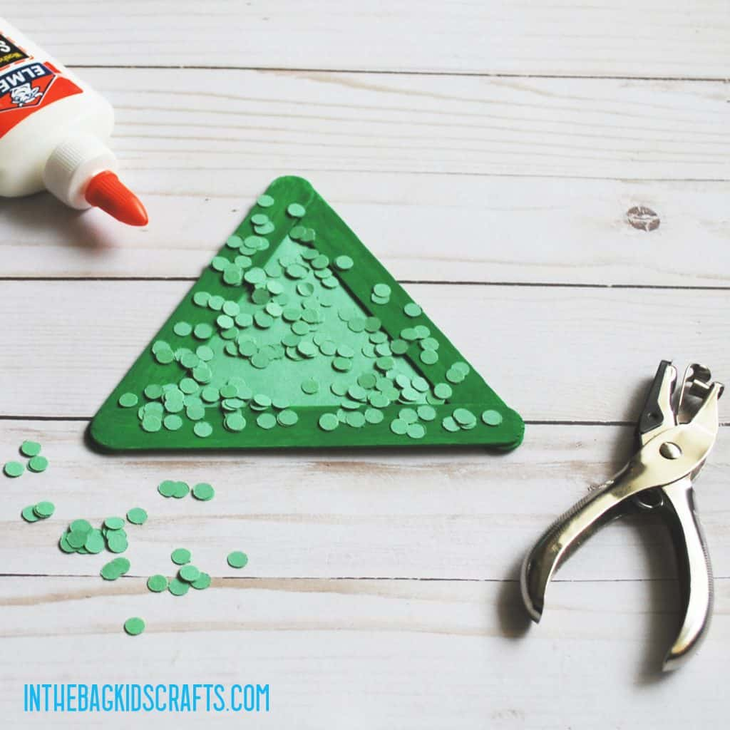 PAPER FOOD CRAFT PEAS