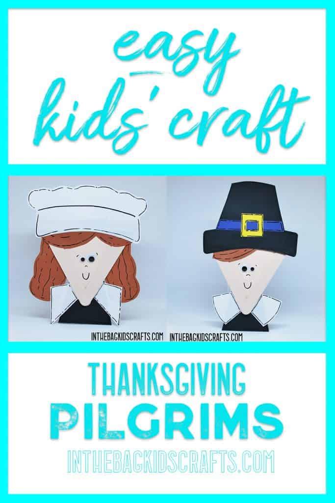 thanksgiving pilgrims kids' craft