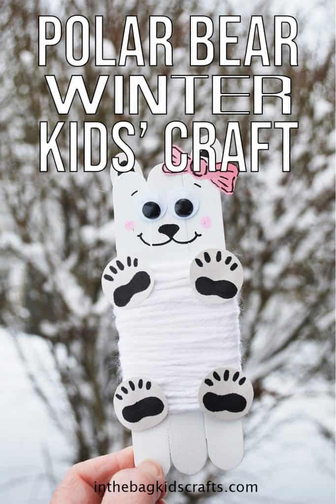 Polar Bear Winter Kids' Craft
