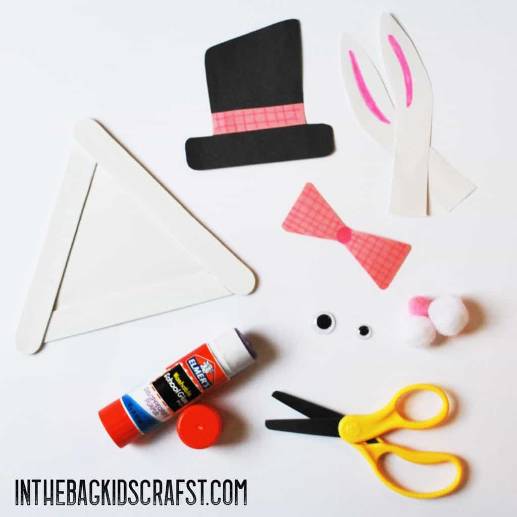 Popsicle Stick Easter Bunny Step 4