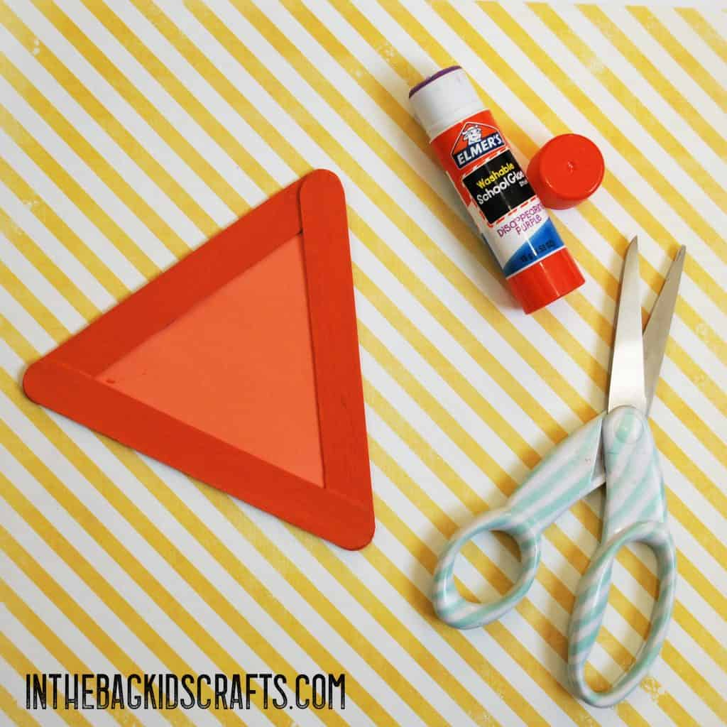 cut and glue the triangle