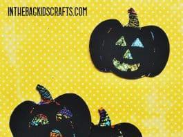 Pumpkin Kids' Craft Scratch Art Jack-o-Lantern