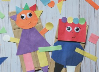 SHAPE PAPER BAG PUPPETS