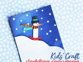 Snowman Christmas Card