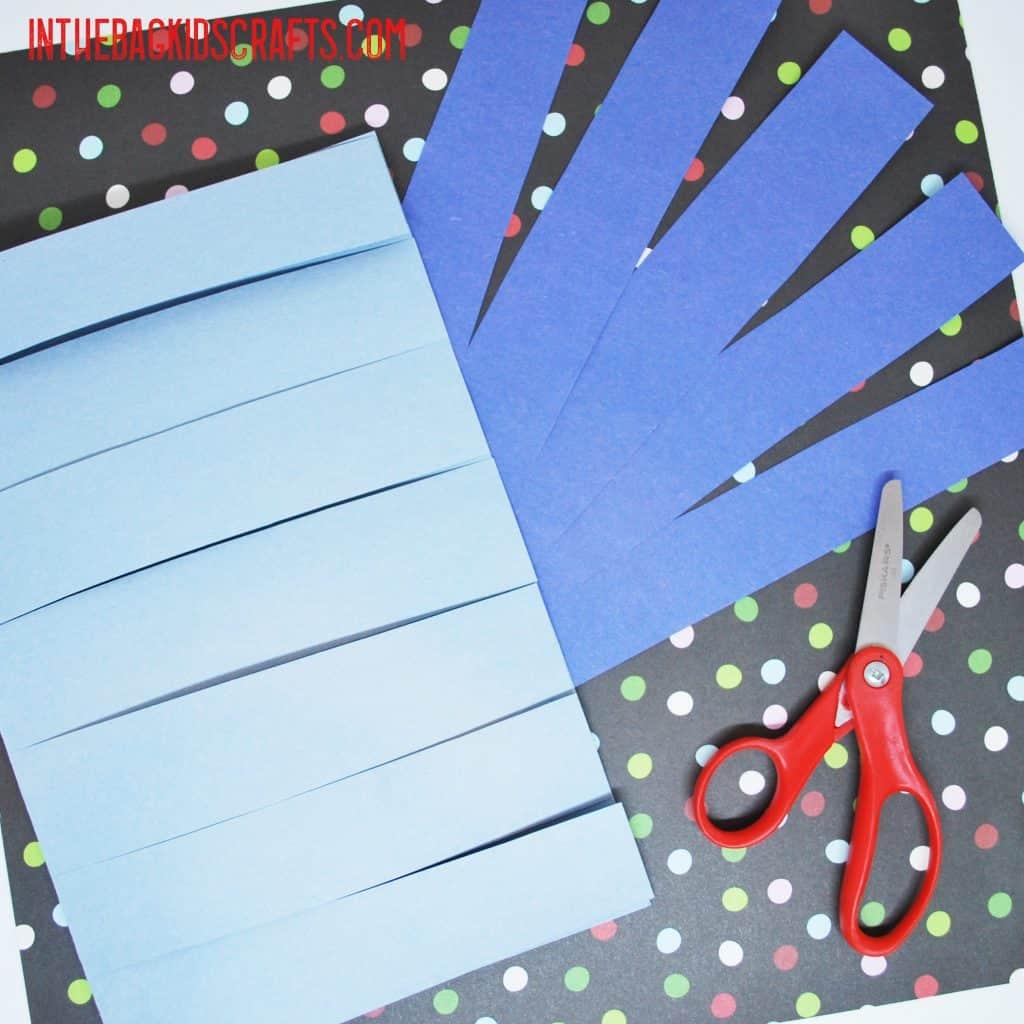 snowflake card step 1