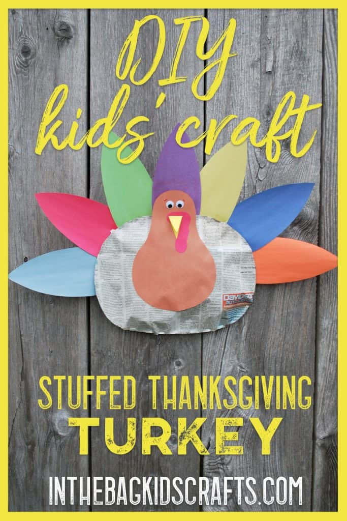 stuffed thanksgiving turkey kids' craft