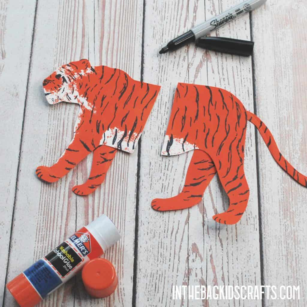 Tiger Clothespin Craft Step 3b