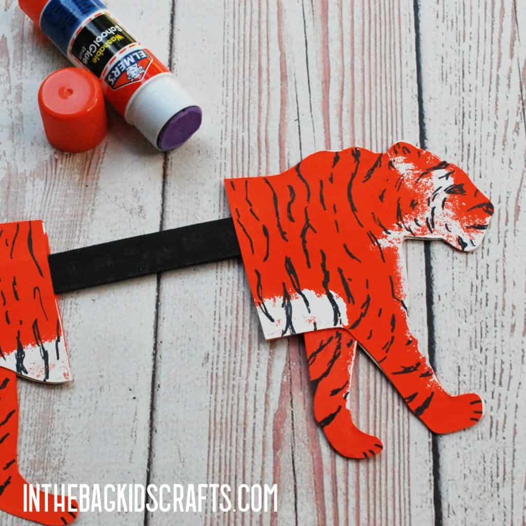 Tiger Clothespin Craft Step 4