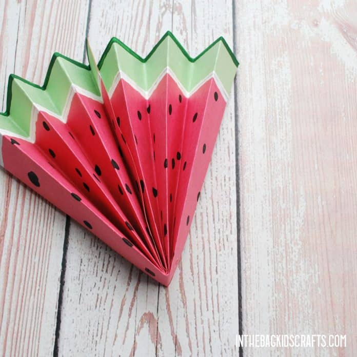 EASY WATERMELON PAPER CRAFTS