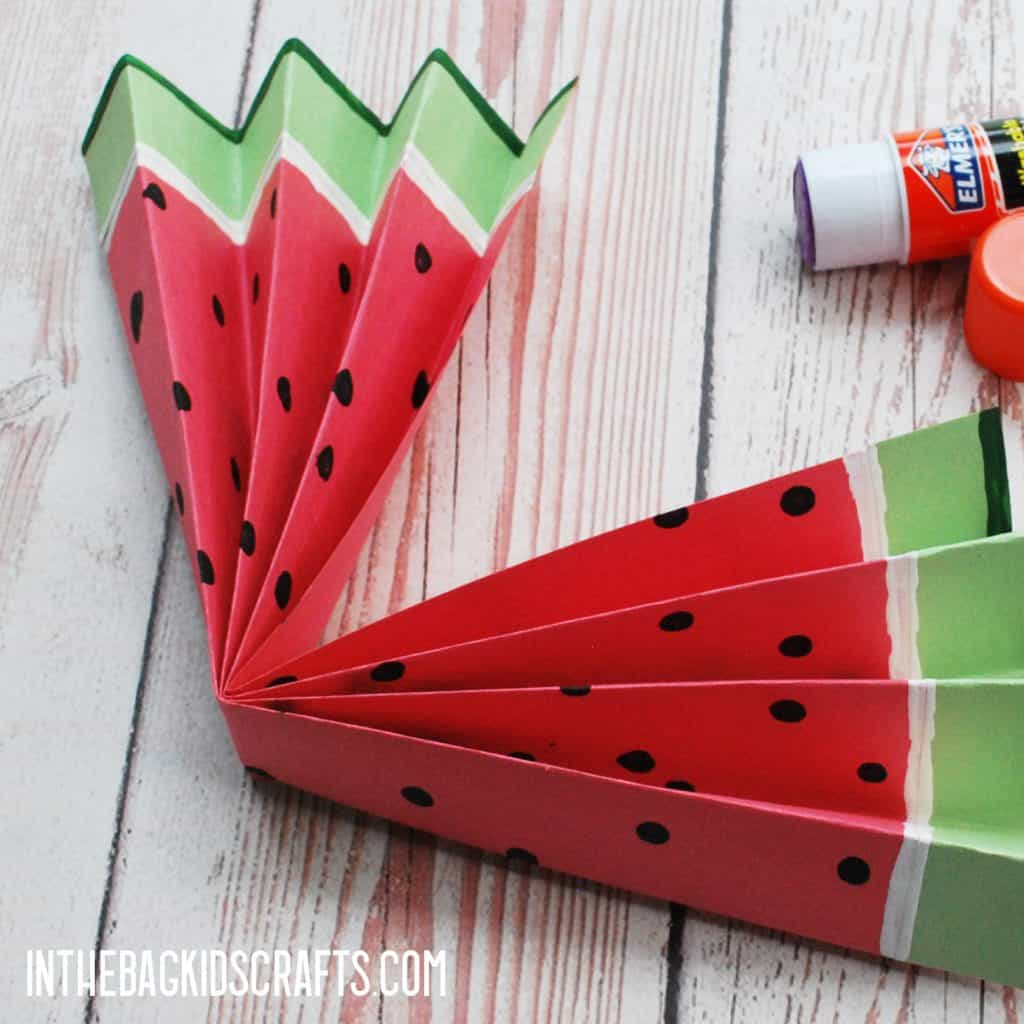 EASY WATERMELON PAPER CRAFTS STEP 3B
