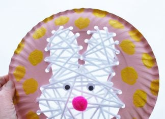 LACING ACTIVITIES Easter Bunny Kids Craft